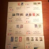 MG195)CECOSLOVACCHIA 1955 Storia Postale Intera Annata Su Raccomandate Viaggiate Inclusa Posta Aerea - Tschechoslowakei/CSSR