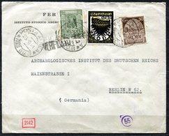 Z1524 ITALIA OCCUPAZIONI RODI 1941 Aerogramma Da Rodi (Egeo) 23.10.41 Per La Germania, Affrancato Con Pittorica 25 C. + - Aegean