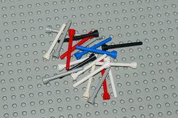 Lego Lot 2 20x Antenne Différentes Couleurs No Transparent 1x4 Ref 3957 - Lego Technic