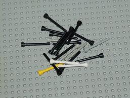 Lego Lot 5 20x Antenne Différentes Couleurs No Transparent 1x4 Ref 3957 - Lego Technic