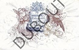 Porseleinkaart - Carte Porcelaine Brugge - Daveluy Lithographe Le Roi Des Belges  9,8 X 6,6 Cm (G148) - Brugge