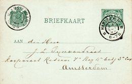 24 OCT 99 Briefkaart G51 Met Grootrond HARDERWIJK Naar Amsterdam - Periode 1891-1948 (Wilhelmina)