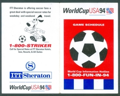WORLD CUP FIFA 1994 - GAME SCHEDULE - Soccer