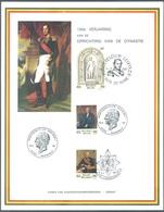BELGIUM - 14.3.1981 - SOUVENIR HERDENKING - DYNASTIE - COB 2001-2003 - Lot 19703 - Souvenir Cards