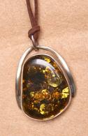 Bijoux-pendentif-36-ambre Et Argent - Pendentifs
