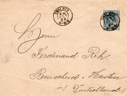 28 OCT 99 Envelop G9 Met Kleinrond SWALMEN Naar Remscheid Hastem - Periode 1891-1948 (Wilhelmina)
