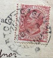 AMBULANTE TORTOLI - CAGLIARI   * 18/8/08  SU CARTOLINA  PER GONNOSFASSADIGA  CAGLIARI - 1900-44 Vittorio Emanuele III