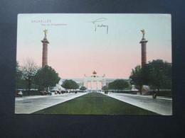 Belgien 1907 AK Bruxelles Parc Du Cinquantenaire Nach London Gesendet! Michel Nr. 71 Mit 2 Anhängseln! - 1905 Breiter Bart
