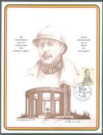BELGIUM - 11.2.1984 - SOUVENIR HERDENKING - ALBERT I - COB 2118 - Lot 19704 - SIGNE BONNEVALLE - Cartes Souvenir