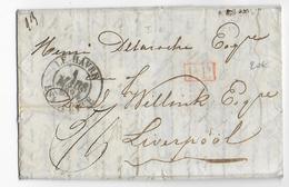 """1834 - SEINE INFERIEURE - LETTRE """"EXPRES"""" PORT PAYE Par ESTAFETTE De LE HAVRE Avec T13 => LIVERPOOL - 1801-1848: Precursors XIX"""