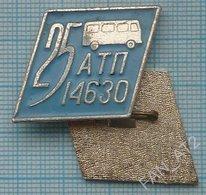 USSR /  Badge / Soviet Union / UKRAINE. Auto Transport Company 25 Years. Autobus. Bus Lviv - Altri