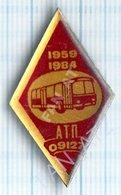 USSR /  Badge / Soviet Union / UKRAINE. Auto Transport Company 25 Years. Autobus. Bus. KIEV. - Altri