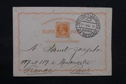 BRÉSIL - Entier Postal De Rio De Janeiro Pour Paris En 1889 - L 32412 - Ganzsachen
