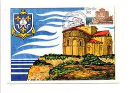 CARTE MAXIMUM 1985 EGLISE DE TALMONT SAINTONGE ROMANE - 1980-89