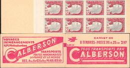 """CARNET 1263-C 1 MARIANNE De DECARIS """"CALBERSON"""" Série (S.05.62). Parfait état, Produit Plus Que RARE. - Usage Courant"""