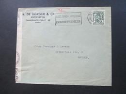 Belgien 1940 Zensurbeleg OKW Geprüft Antwerpen - Bremen. - 1935-1949 Small Seal Of The State