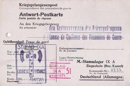 STALAG A L' HOMME DE CONFIANCE DES PRISONNIERS DE GUERRE CACHET AVEC FRANCISQUE - Guerre De 1939-45