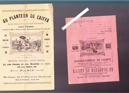 Au Planteur De Caiffa / Café / 2 Collecteurs De Primes + Nomenclature Des Primes - Advertising