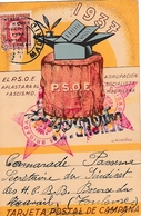 1937 RARA TARJETA DEL PSOE  35 BRIGADA    CESURA MADRID  ELA127 - 1931-Hoy: 2ª República - ... Juan Carlos I