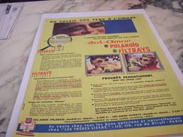 ANCIENNE  PUBLICITE LUNETTE DE SOLEIL SOL AMOR 1954 - Habits & Linge D'époque