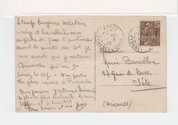 Sur CPA Pyrénées Orientales CAD Porte P.O. 1932 Sur Timbre Exposition Coloniale 40 C. Sépia. (2377x) - 1921-1960: Periodo Moderno
