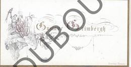 Porseleinkaart - Carte Porcelaine Brugge - Gustave Grimbergh    8 X 4,2 Cm (G160) - Brugge
