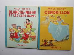 2 Livres De Cendrillon Et Blanche-neige - Magazines