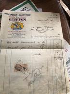 Facture De L'imprimerie Du Griffon D'avril 1931 - Francia