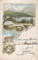 CPA STRBSKE PLESO, LAKE, MOUNTAINS, CHALET - Slowakei