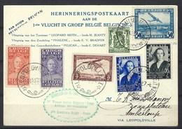 Premier Voyage Aérien Bruxelles - Congo (belge), Avions Missionnaires Via L'avion Le Pélican ( Affranchissement Mixte ) - Airmail