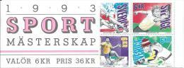 Suède 1993 Carnet C1743 Neuf Sports Vol à Voile, Lutte, Ping Pong, Bowling, Hand Ball Et Ski - Carnets