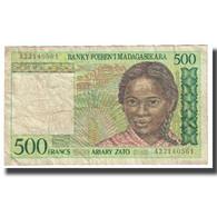 Billet, Madagascar, 500 Francs = 100 Ariary, KM:75a, TB - Madagascar