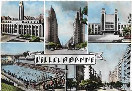 ~  JP  ~   69   ~    VILLEURBANNE   ~    Multivues     ~   CPSM  14 , 5  X   10 , 3  Cm - Villeurbanne