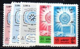 APR1419 - LIBIA LYBIA 1966/7 , Serie Yvert  N. 288/289 E 301/303  ***  MNH  (2380A) - Libia