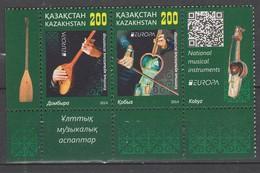 Kazakhstan Europa 2014 N° 706/ 707** Instruments De Musique - Europa-CEPT