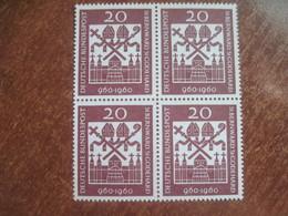 Germany 1960 St. Bernward And St. Godehard Block Of 4 MNH - [7] Federal Republic