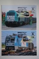ESPAÑA / SPAIN / ESPAGNE (2019) - Joint Issue CHINA - Nueva Ruta De La Seda Tren Madrid-Yiwu / Train - Maximum Cards - Maximum Cards