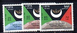 APR1421 - LIBIA LYBIA 1967 , Posta Aerea Serie Yvert  N. 32/34  ***  MNH  (2380A) - Libia