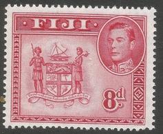 Fiji. 1938-55 KGVI. 8d MH.P14 SG 261c - Fidji (...-1970)