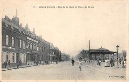 Rue De La Gare Et Place De  Croix FRANCE - Lille