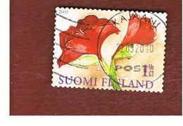 FINLANDIA (FINLAND) -  MI 1996  -  2009 CHRISTMAS: FLOWERS (AMARYLLIS)    -       USED ° - Finlandia