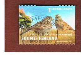 FINLANDIA (FINLAND) -  SG   1689  -    2003 PROVINCIAL BIRDS:  ALANDA ARVENSIS    -       USED ° - Finlandia