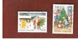 FINLANDIA (FINLAND) -  SG 1001.1002        -    1981    CHRISTMAS (COMPLET SET OF 2)  -   USED ° - Usados