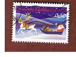 FINLANDIA (FINLAND) -  SG 847   -    1973 CHRISTMAS: SANTA CLAUS    -   USED ° - Finlandia