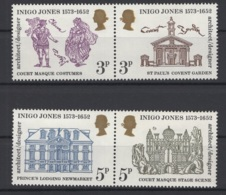 Grande-Bretagne. 1973. Y & T N° 691a & 693a *, MH. Cote Y & T 2012 : 4 € - Neufs