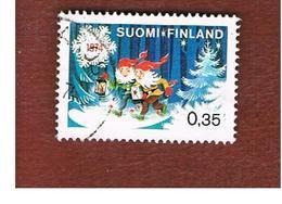 FINLANDIA (FINLAND) -  SG 864  -    1974  CHRISTMAS: DWARFS  -   USED ° - Usados