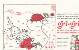 BU 1703 /  BUVARD    GRI- GRI   LE VRAI JUS DE FRUITS LE LIEVRE ET LA TORTUE - Softdrinks