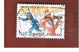 FINLANDIA (FINLAND) -  SG 976        -    1980  BIATHLON WORLD CHAMPIONSHIP           -   USED ° - Finlandia