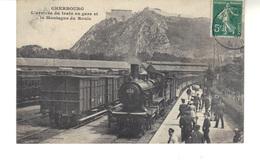 CPA  - Cherbourg  - L'arrivée Du Train En Gare Et La Montagne Du Roule. - Cherbourg