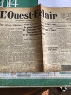 L'Ouest-Eclair Du Dimanche 21 Juillet 1940 - Journaux - Quotidiens